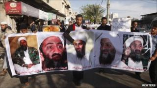 Salafists in Gaza protest at the killing of Bin Laden by US forces - 7 May 2011