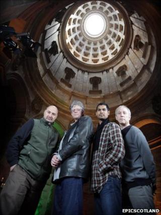 Kronos Quartet at Hamilton Mausoleum (Pic by Ashley Coombes/Epicscotland)