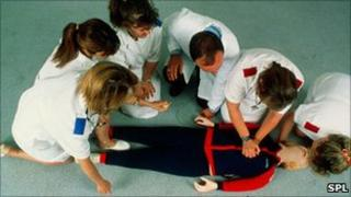Cardiopulmonary resuscitation training (CPR)