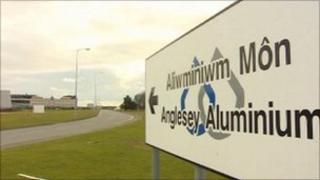 Anglesey Aluminium sign