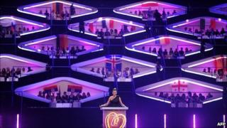 Eurovision contest in Duesseldorf, May 2011