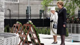 Queen Elizabeth II and President Mary McAleese