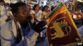 A recent protest in Sri Lanka against the UN report