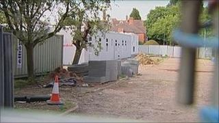 St Luke's Hospital building site