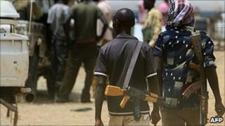 Armed men in Abyei (file image)