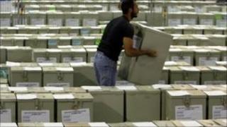 Ballot boxes in Nicosia
