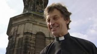 Mark Thomas at St Chad's Church in Shrewsbury