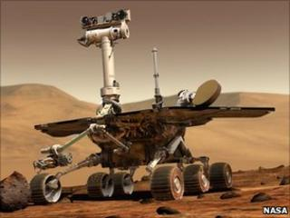 Artist impression of Spirit rover (Nasa)