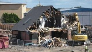 Spout Farm House demolished