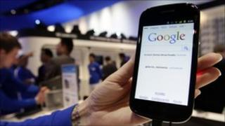 Smartphone that runs Google's Android operating system