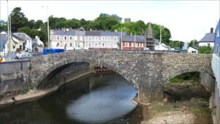 The bridge in Bridgend