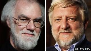 Archbishop of Canterbury Rowan Williams and Simon Russell Beale