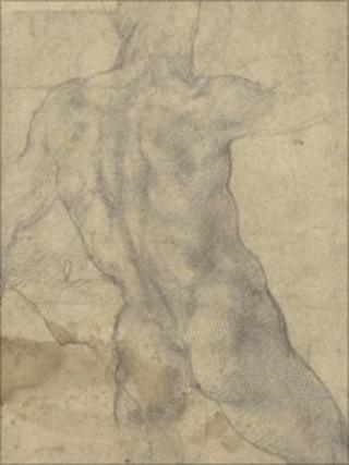 Michelangelo drawing for The battle of Cascina