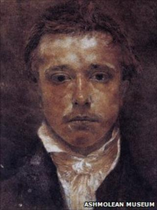 Samuel Palmer's self portrait, Ashmolean Museum, University of Oxford