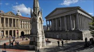 General view of Chamberlain Square in Birmingham