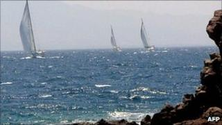 Yachts in the Aegean Sea near Bodrum (archive image)