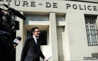 Luc Ferry outside the Police Prefecture in Paris, after being questioned about his claims concerning a fellow former minister and paedophilia