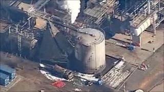 The Chevron plant in Pembroke