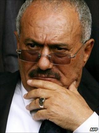 President Ali Abdullah Saleh (file image)