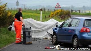Crash scene [Pic: Press and Journal]