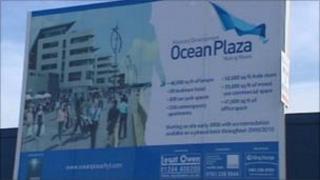 Ocean Plaza billboard