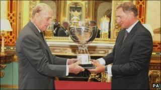 Prince Philip and David Hempleman-Adams