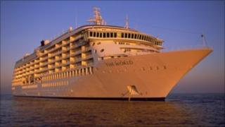 The World private cruise liner