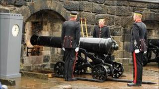 Gunners of 105th Regiment Royal Artillery re-enact the first firing of the One O'Clock Gun in June 1861 (Pic by Mark Owens)