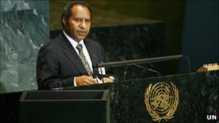 Samuel Abal, Minister for Foreign Affairs, Trade and Immigration of Papua New Guinea addresses the general debate of the 64th session of the UN General Assembly in 2009. UN Photo/Marco Castro