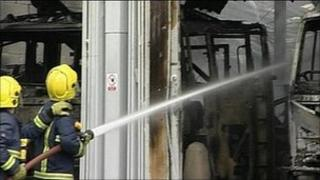 Crews dealing blaze at Fire Service College in May 2009