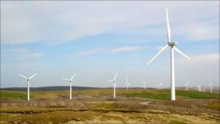 Cefn Croes Wind Farm near Devil's Bridge, Ceredigion