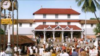 Temple dedicated to the Hindu god Manjunatha in Karnataka