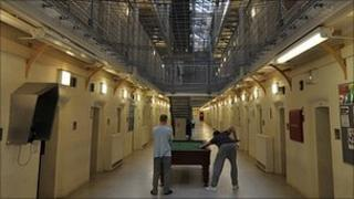 Inmates in Wormwood Scrubs prison in west London