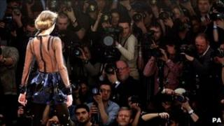 Model at London Fashion Week