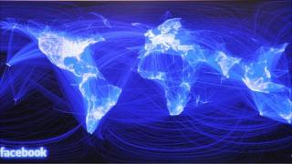 Facebook connections map