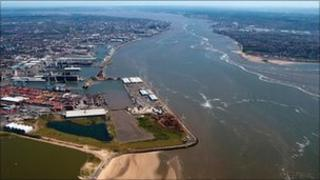 Mersey Ports aerial shot