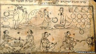 A page from the Poona Haggadah