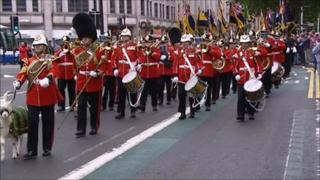 Armed Forces Day parade in Cardiff