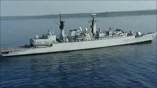 Staff aboard HMS Cornwall were deployed on a counter piracy mission when they heard the news