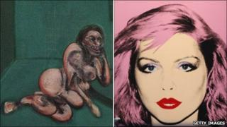 Francis Bacon's Crouching Nude and Andy Warhol's Debbie Harry