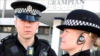 Grampian Police officers