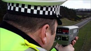 Police speed camera