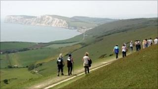 Isle of Wight walkers