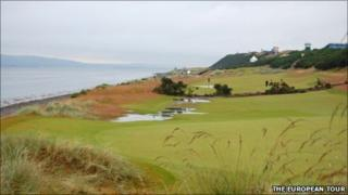 The first fairway at Castle Stuart