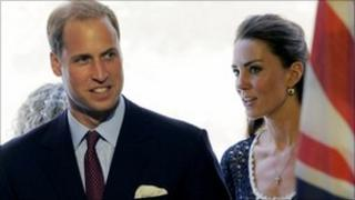 Prince William and Kate, the Duke and Duchess of Cambridge, arrive at the Service Nation in the US