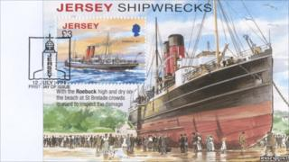 New £3 Jersey stamp showing a shipwreck