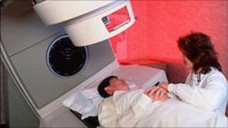 Cancer patientabout to receive radiotherapy