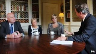The Dowler family and David Cameron