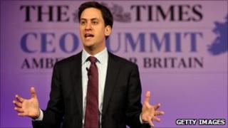 Ed Miliband at the Times CEO Summit on 21 June, 2011