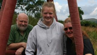 Graham Hallett, Chloe Hallett and Lindsay Muir